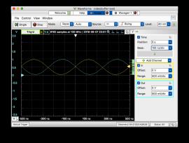 Buffered signal (yellow), 1-n signal (blue)